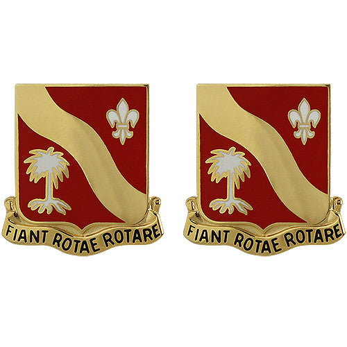 132nd Field Artillery Regiment Unit Crest (Fiant Rotae Rotare)
