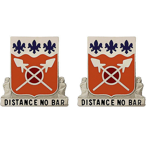 133rd Signal Battalion Unit Crest (Distance No Bar)
