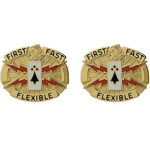 135th Signal Battalion Unit Crest (First Fast Flexible)