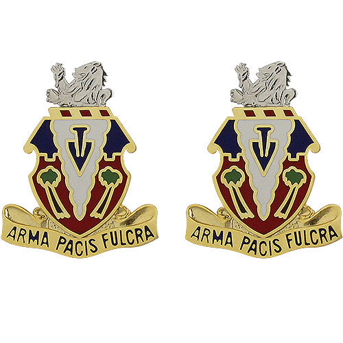 139th Field Artillery Regiment Unit Crest (Arma Pacis Fulcra)