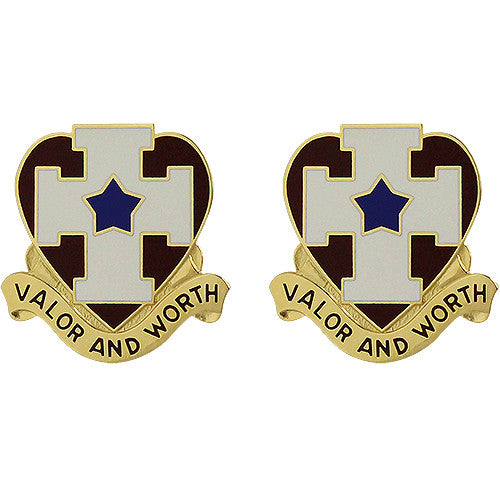 139th Medical Brigade Unit Crest (Valor and Worth)