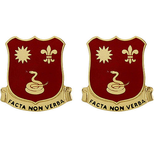 143rd Field Artillery Regiment Unit Crest (Facta Non Verba)