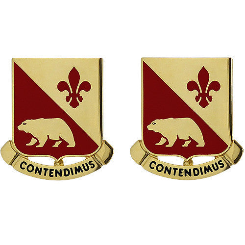 144th Field Artillery Regiment Unit Crest (Contendimus)