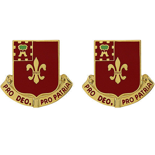 145th Field Artillery Regiment Unit Crest (Pro Deo, Pro Patria)