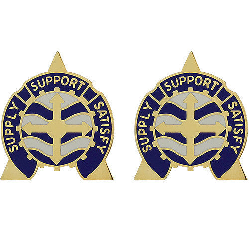 146th Support Battalion Unit Crest (Supply Support Satisfy)