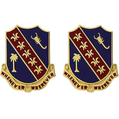 148th Field Artillery Regiment Unit Crest (Whenever Wherever)