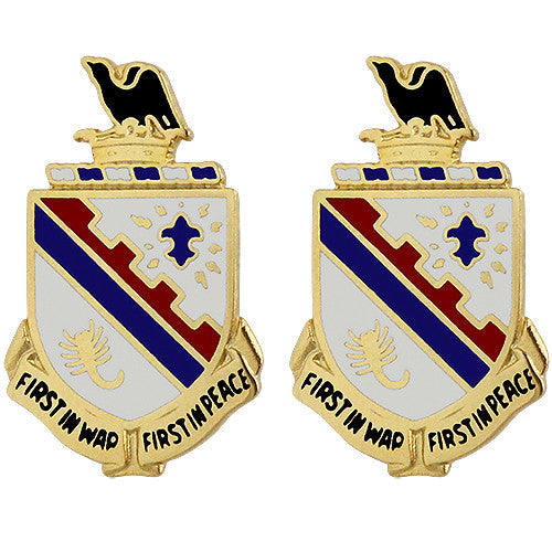 161st Infantry Regiment Unit Crest (First in War First in Peace)