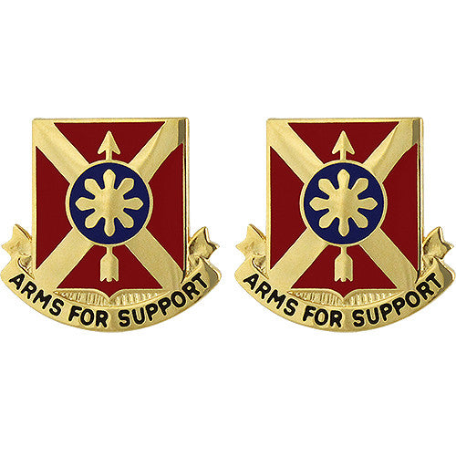 163rd Field Artillery Regiment Unit Crest (Arms For Support)