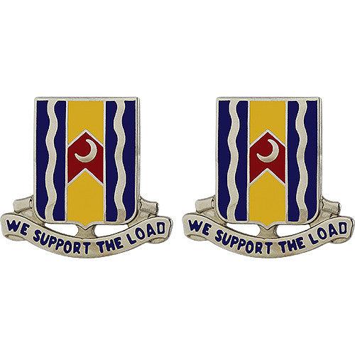 218th Support Battalion Unit Crest (We Support the Load)