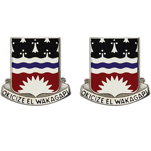 164th Engineer Battalion Unit Crest (Okicize El Wakagapi)