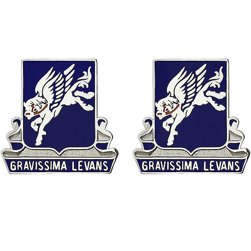 169th Aviation Regiment Unit Crest (Gravissima Levans)