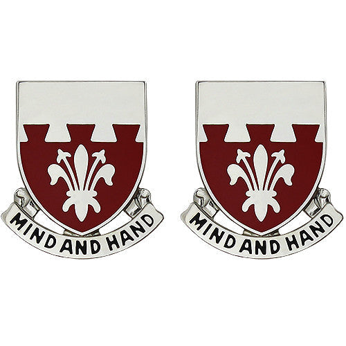 169th Engineer Battalion Unit Crest (Mind and Hand)