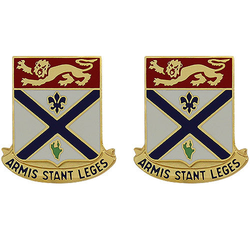 169th Regiment Unit Crest (Armis Stant Leges)