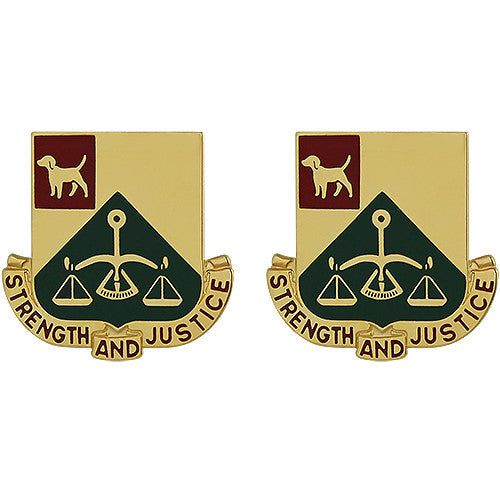 175th Military Police Battalion Unit Crest (Strength and Justice)