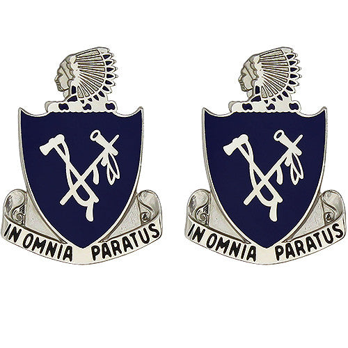 179th Infantry Regiment Unit Crest (In Omnia Paratus)