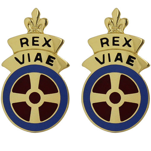 180th Transportation Battalion Unit Crest (Rex Viae)