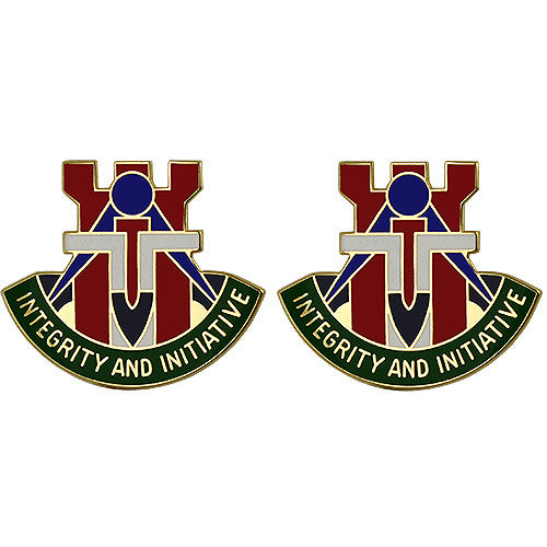194th Engineer Brigade Unit Crest (Integrity and Initiative)