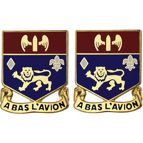 197th Field Artillery Regiment Unit Crest (A Bas L'Avion)