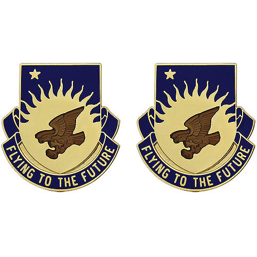 207th Aviation Regiment Unit Crest (Flying to the Future)