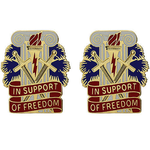 207th Support Group Unit Crest (In Support of Freedom)