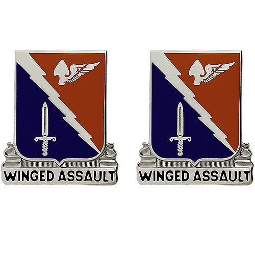 229th Aviation Regiment Unit Crest (Winged Assault)