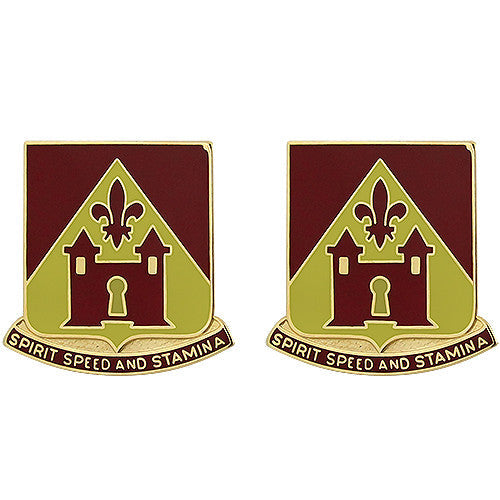 229th Field Artillery Regiment Unit Crest (Spirit Speed and Stamina)