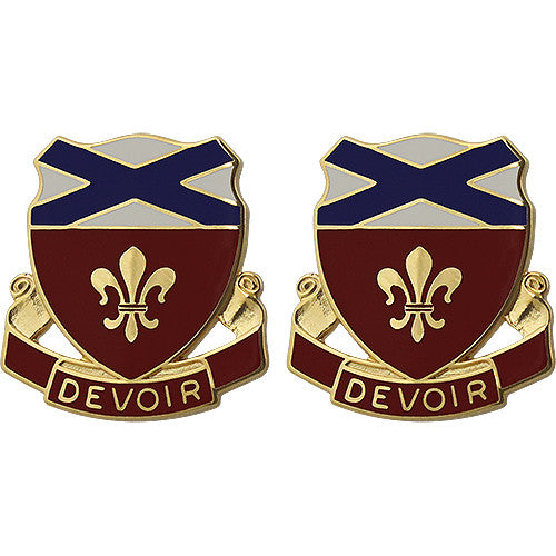 242nd Engineer Battalion Unit Crest (Devoir)