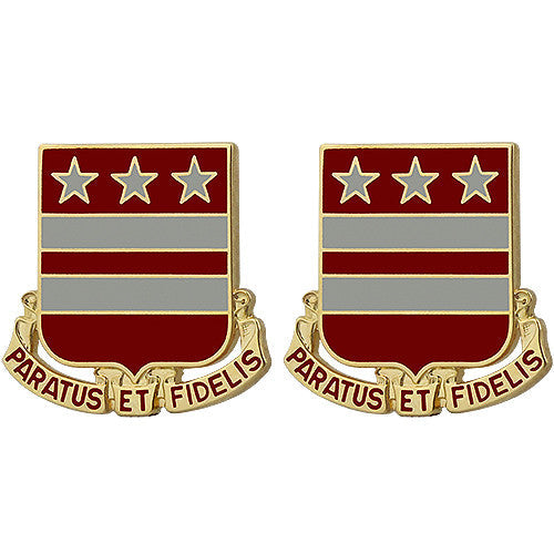 258th Field Artillery Regiment Unit Crest (Paratus Et Fidelis)