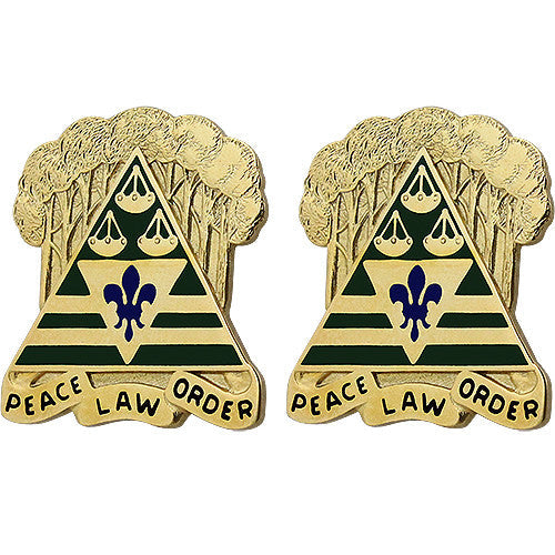 260th Military Police Command Unit Crest (Peace Law Order)