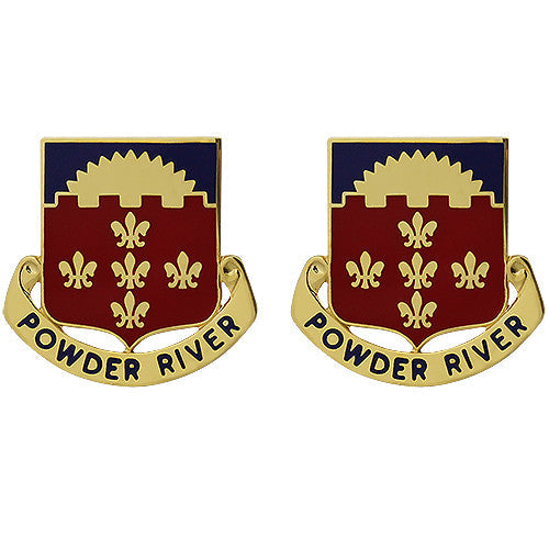 300th Field Artillery Regiment Unit Crest (Powder River)