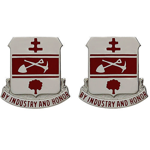317th Engineer Battalion Unit Crest (By Industry and Honor)