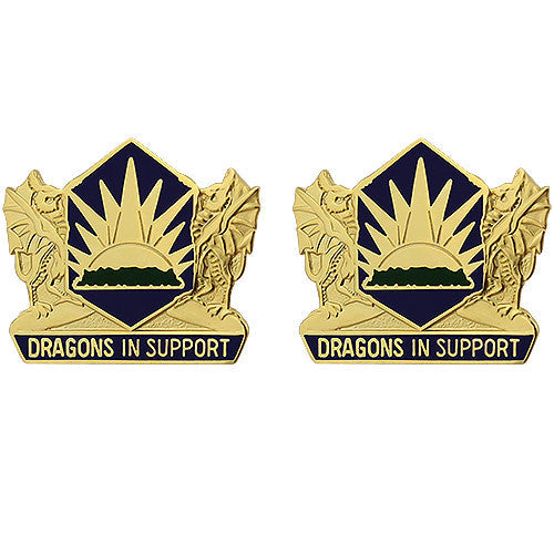 404th Maneuver Enhancement Brigade Unit Crest (Dragons in Support)