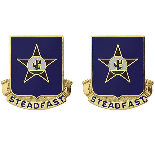 409th Regiment Unit Crest (Steadfast)