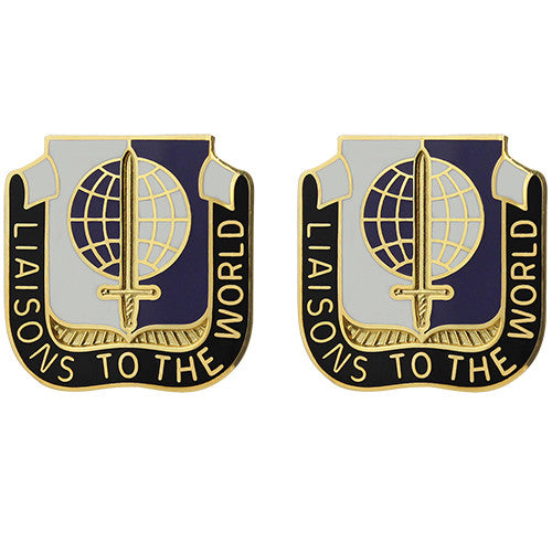 414th Civil Affairs Battalion Unit Crest (Liaisons to the World)
