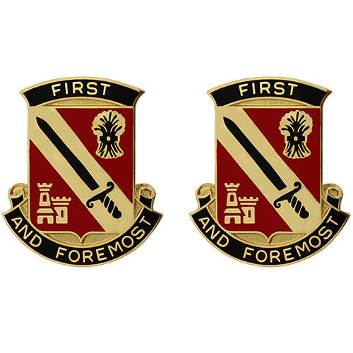 414th Support Battalion Unit Crest (First and Foremost)
