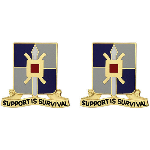 429th Support Battalion Unit Crest (Support is Survival)