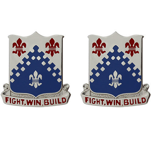 439th Engineer Battalion Unit Crest (Fight, Win, Build)