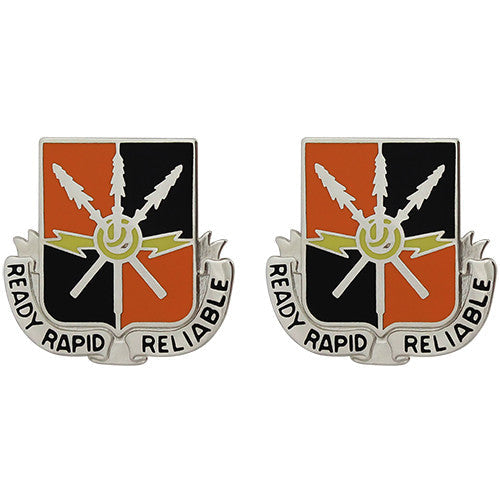 442nd Signal Battalion Unit Crest (Ready Rapid Reliable)