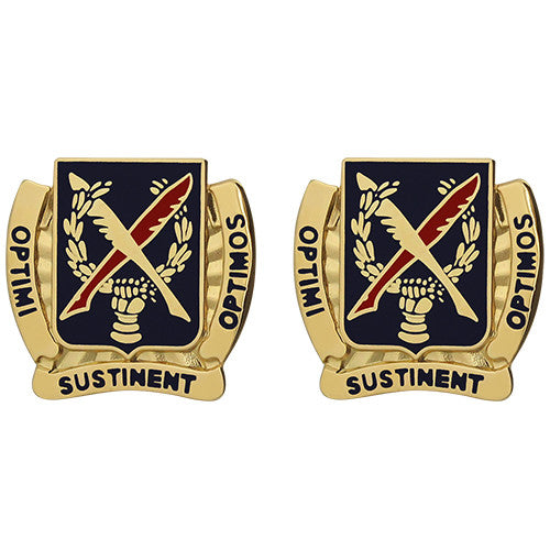 502nd Personnel Services Battalion Unit Crest (Optimi Sustinent Optimos)