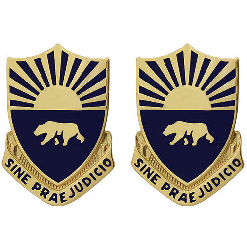 508th Military Police Battalion Unit Crest (Sine Praejudicio)