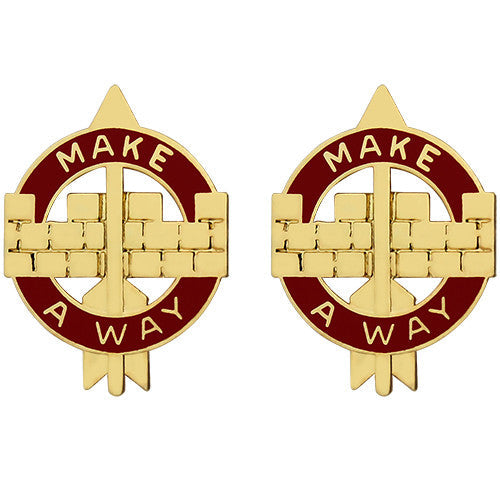 524th Support Battalion Unit Crest (Make a Way)
