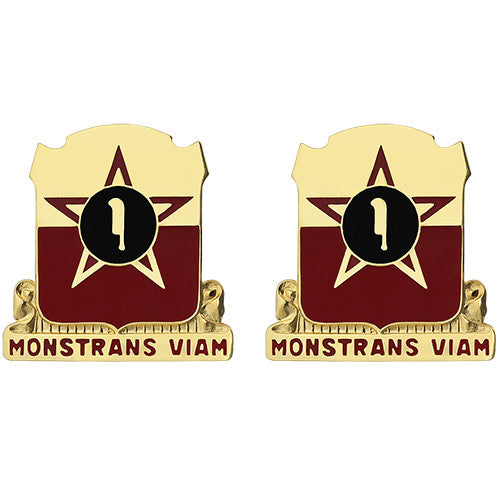 528th Artillery Group Unit Crest (Monstrans Viam)