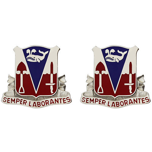 579th Engineer Battalion Unit Crest (Semper Laborantes)