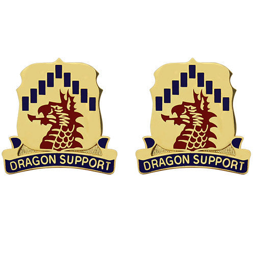 601st Support Battalion Unit Crest (Dragon Support)