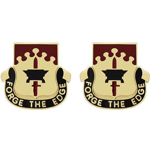 615th Support Battalion Unit Crest (Forge the Edge)