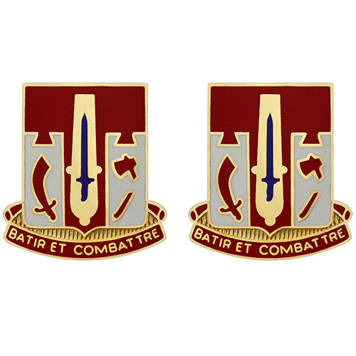 682nd Engineer Battalion Unit Crest (Batir Et Combattre)