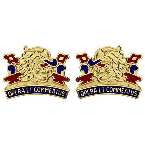 687th Quartermaster Battalion Unit Crest (Opera Et Commeatus)