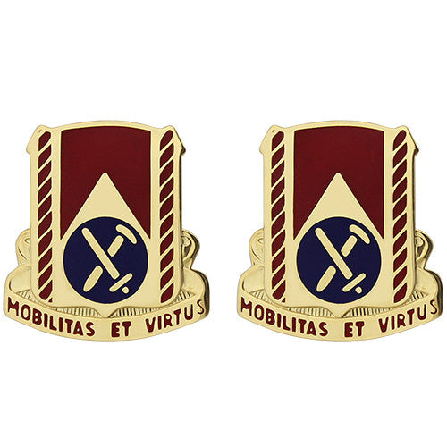 710th Support Battalion Unit Crest (Mobilitas Et Virtus)