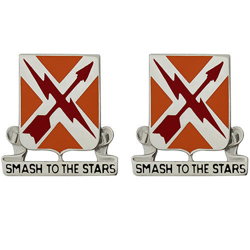 711th Support Battalion Unit Crest (Smash to the Stars)