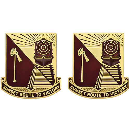 719th Transportation Battalion Unit Crest (Sunset Route to Victory)